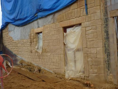 linteaux bois, enduit pierre et peinture à locre  Allons au Bois ~ Utilisation Du Bois Par L Homme